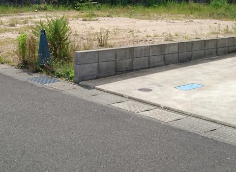 ブロック 境界 土地 の 線